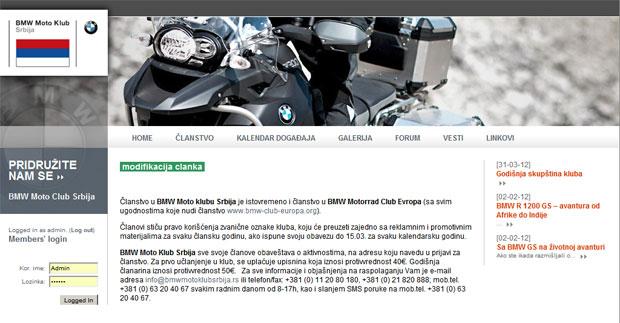 Godišnja skupština kluba BMW Moto kluba Srbija