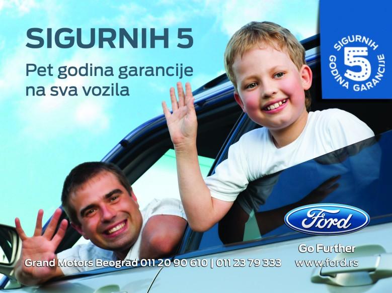 Petogodišnja garancija za Fordove automobile