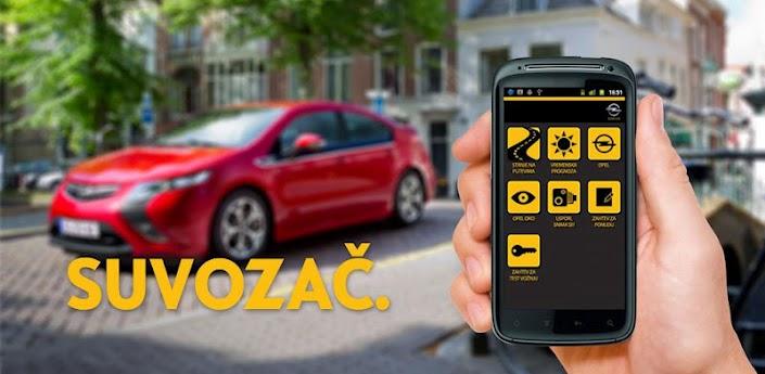 """Opel """"Suvozač"""" Android aplikacija"""