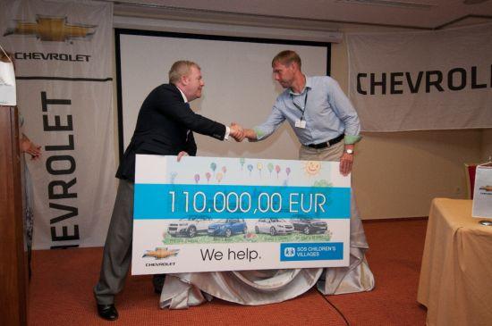 Chevrolet donirao 250.000 evra SOS Dečijim selima