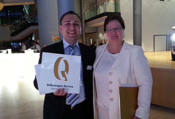 Dodeljena nagrada Volkswagen-a za kvalitet servisa 2012. godine