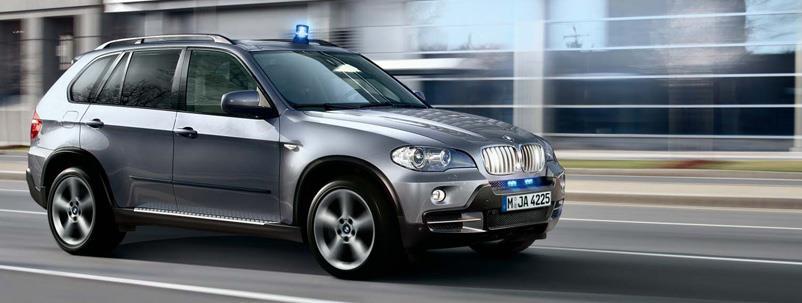 BMW automobili sa različitim stepenima zaštite
