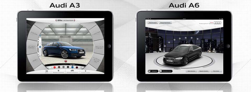 Audi A6 bi-turbo i Audi A3 iPad aplikacije