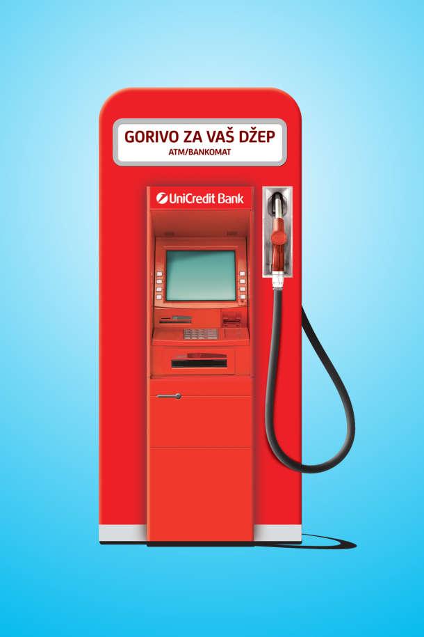 Na 26 NIS Petrol i Gazprom benzinskih stanica postavljeni su bankomati UniCredit Banke