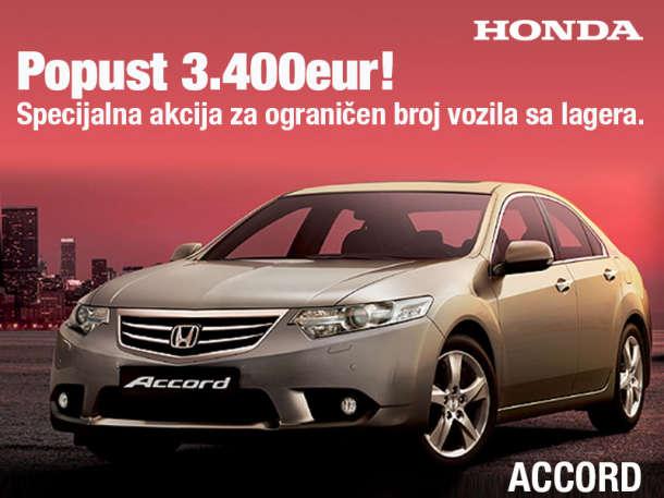 Honda Accord u paketima Elegance i Lifestyle sa popustom od 3.400eur!
