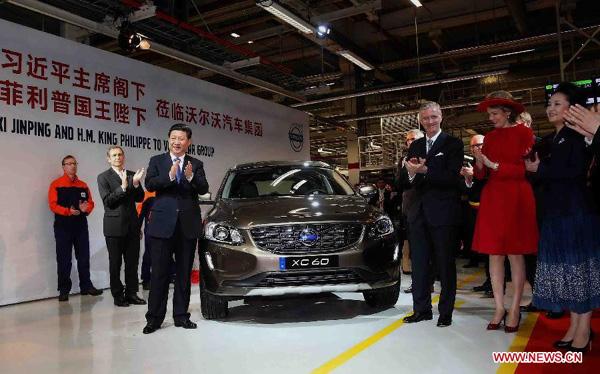 """Kineski predsednik posetio fabriku kompanije """"Volvo"""" u Belgiji"""