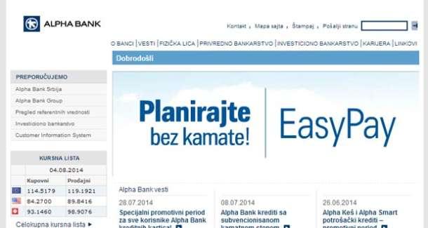 Alpha Banka nudi registraciju na rate pomoću kredita