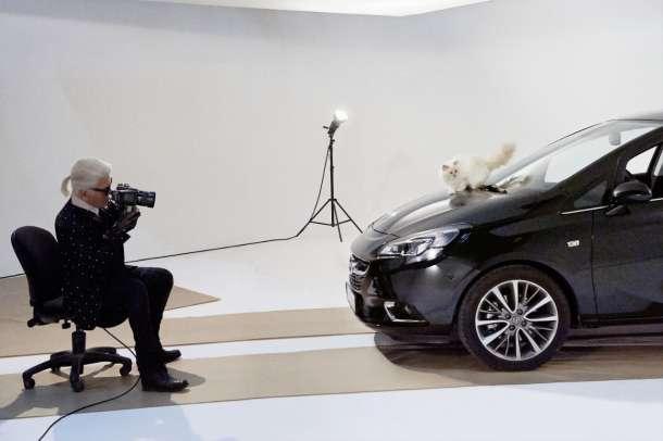 Opel Corsa i Choupette poziraju za Karla Lagerfelda