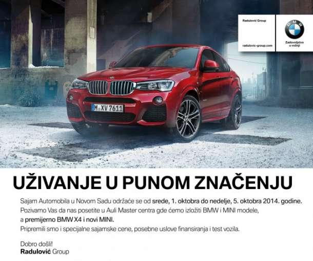 Posetite BMW na Sajmu automobila u Novom Sadu