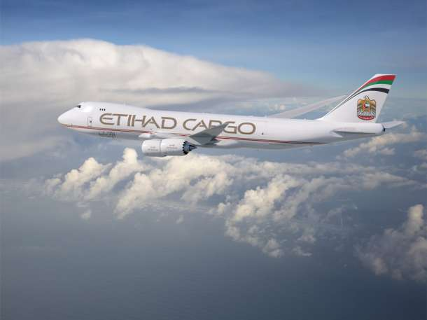 Etihad Cargo liveried 747-8F