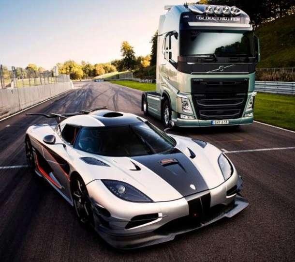 Volvo FH se nadmeće sa Koenigsegg super-automobilom