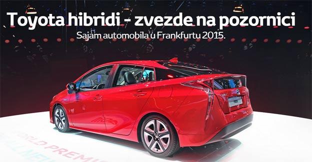 Toyota hibridi - zvezde na pozornici u Frankfurtu
