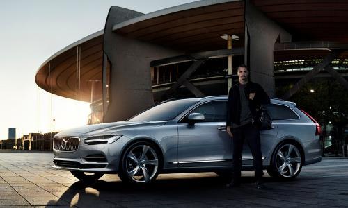 Volvo V90 i Zlatan Ibrahimovic