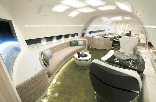 Novi izgled velikih kabina u Erbasovim korporativnim avionima