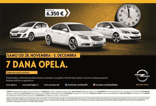 7 dana Opela – Vreme najpovoljnijih ponuda
