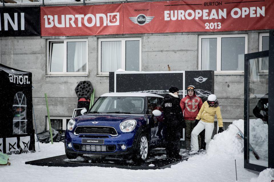 MINI na Burton European Open-u