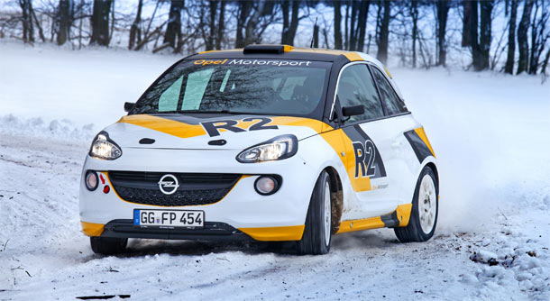 Opel Adam koncept reli po FIA R2 specifikacijama