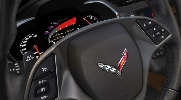Klaster displej modela Corvette Stingray