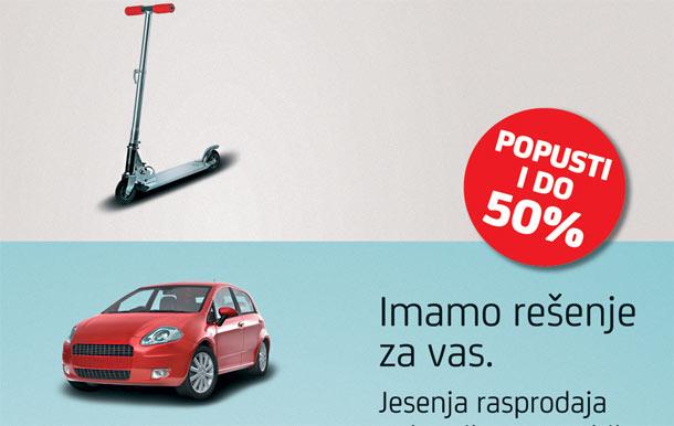 UniCredit Leasing Srbija organizuje jesenju rasprodaju polovnih automobila