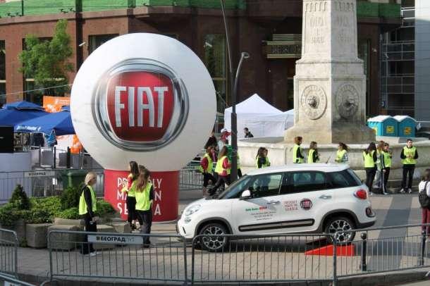 FIAT 500L - zvanično vozilo 27. Beogradskog maratona