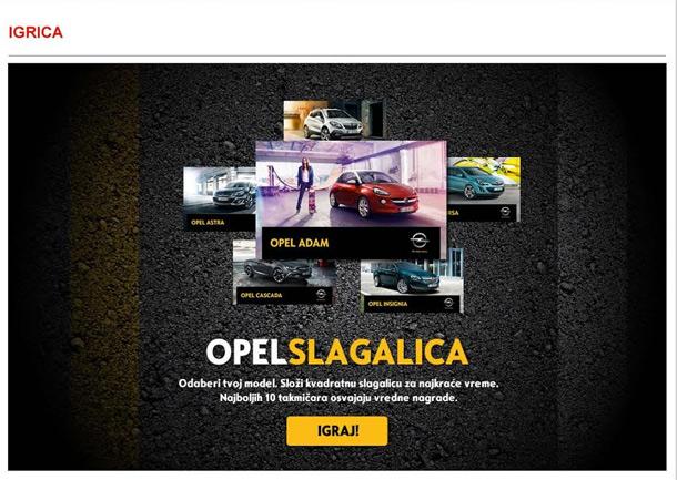 Opel slagalica  - Opelovi pokloni za najbrže takmičare