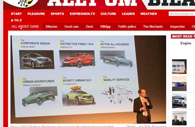 Novi Saab modeli